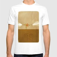 Avatar Aang Mens Fitted Tee White SMALL