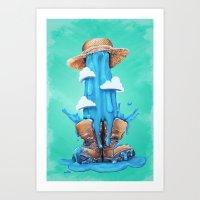 Intrusive Sky Art Print