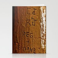 Carved Love Stationery Cards