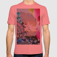 Tropical Star Mens Fitted Tee Pomegranate SMALL