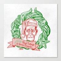 H.P. Lovecraft's Mad Tidings of Great Despair Canvas Print