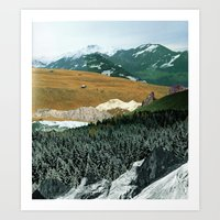 Experiment am Berg 21 Art Print