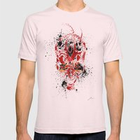 Red Rage Mens Fitted Tee Light Pink SMALL