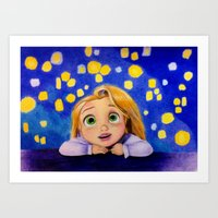 Big Dreamy Eyes Art Print