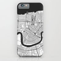 iPhone Cases featuring New Orleans G by City Map Art
