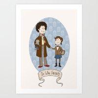 Dr Who Fangirls Art Print