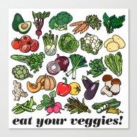 Eat Your Veggies! Canvas Print