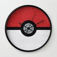 Minimal Pokéball Poster… Wall Clock