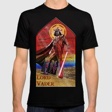 STAR WARS Stained Glass Lord Vader Mens Fitted Tee Black SMALL