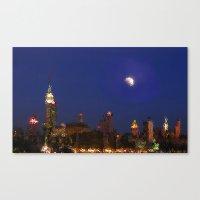 Empire Night Skyline Canvas Print