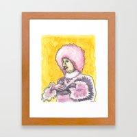 Chicken Lady Framed Art Print
