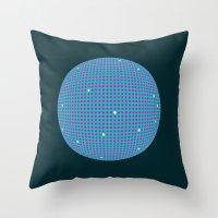 Sphere Blue Throw Pillow