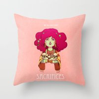 Sacrifices Throw Pillow