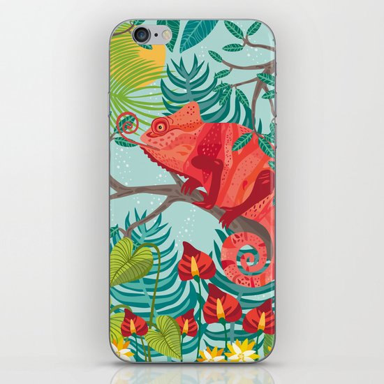 The Red Chameleon  iPhone & iPod Skin