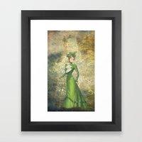 Old Fashioned Lady Framed Art Print