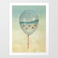 balloon fish Art Print