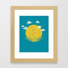 Partly Cloudy Framed Art Print