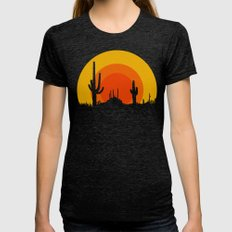 mucho calor Womens Fitted Tee Tri-Black LARGE