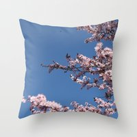 Sakura Blossoms Throw Pillow