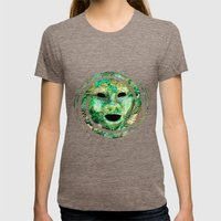 MASKED Womens Fitted Tee Tri-Coffee SMALL