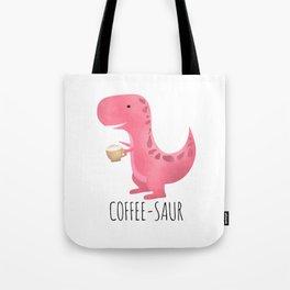 Tote Bag - Coffee-saur | Pink - A Little Leafy