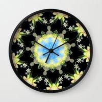 Kaleidoscope 'Twisted Flower' Wall Clock