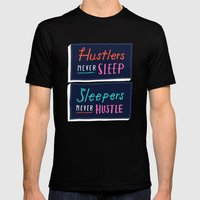 Never Sleep Mens Fitted Tee Black SMALL