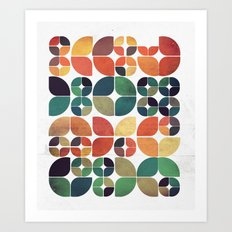 Vintage Fall Pattern Art Print