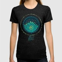 Blue Lotus Womens Fitted Tee Tri-Black SMALL