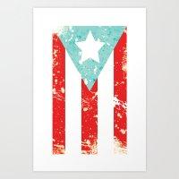 Mi Bandera Art Print