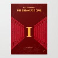 No309 My The Breakfast Club minimal movie poster Canvas Print