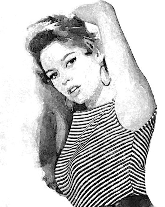 Bridgitte Bardot Art Print