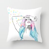 Oh yeah, reality bites Throw Pillow