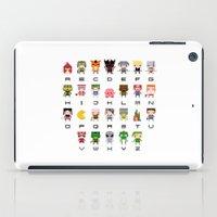 Video Games Pixel Alphabet iPad Case
