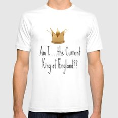 Am I the current King of England? Sherlock White Mens Fitted Tee SMALL