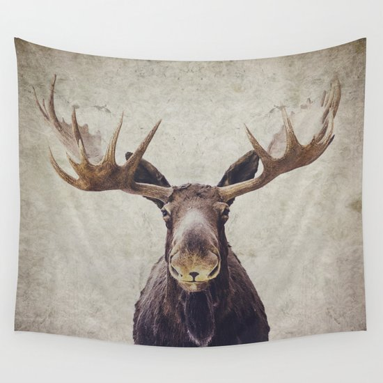 Moose Wall Tapestry By Retro Love Photography