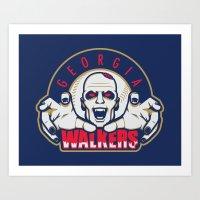 Georgia Walkers Art Print