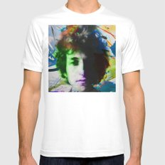 bob dylan 01 Mens Fitted Tee SMALL White