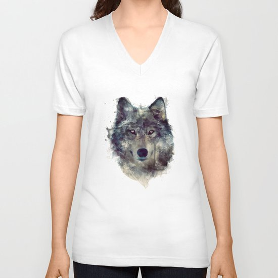 Wolf // Persevere  V-neck T-shirt