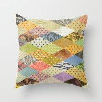 RHOMB SOUP / PATTERN SER… Throw Pillow
