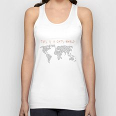 This is a Cat's World Unisex Tank Top