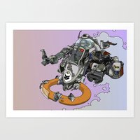 Cloud Ship. Art Print