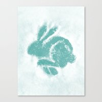 Snowbunny Canvas Print