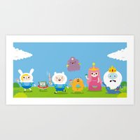 Adventure Time-olla Art Print