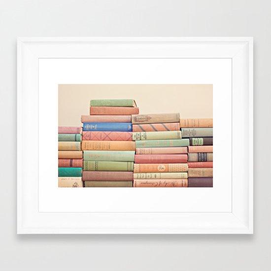 Stacked Gems  Framed Art Print