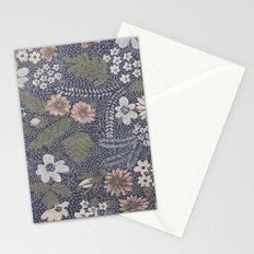 Seafoam Floral Pattern Stationery Cards