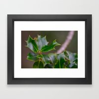 Holly Framed Art Print