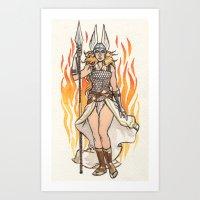 Brunhilde Pin-up Art Print