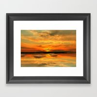 Watching The Sunset Framed Art Print