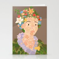 Flora by  Giuseppe Arcimboldo Stationery Cards